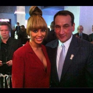 Coach K and Beyonce