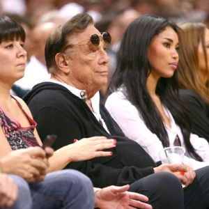 Donald Sterling and Mistress (long black hair)